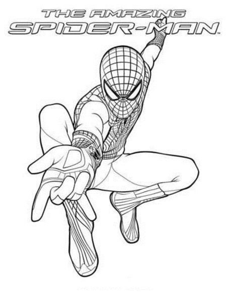 450x583 The Amazing Spider Man Coloring Sheets Amazing Spider Man