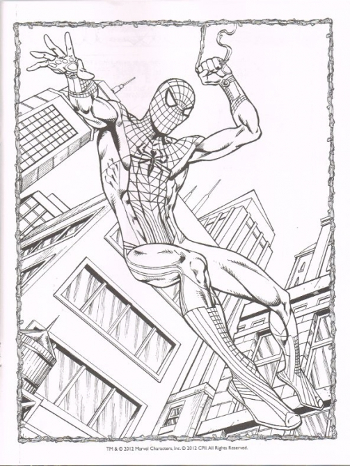 503x669 Spider Man Coloring Pages The Amazing Spider Man Coloring