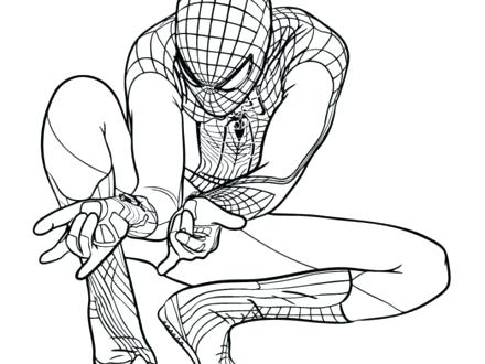 440x330 Spiderman Coloring Page
