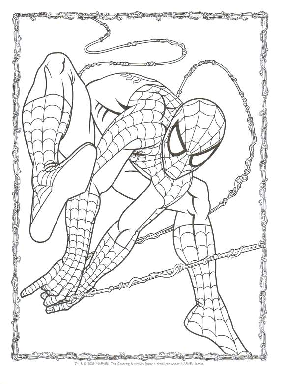 580x780 Spiderman Coloring Pages Printables