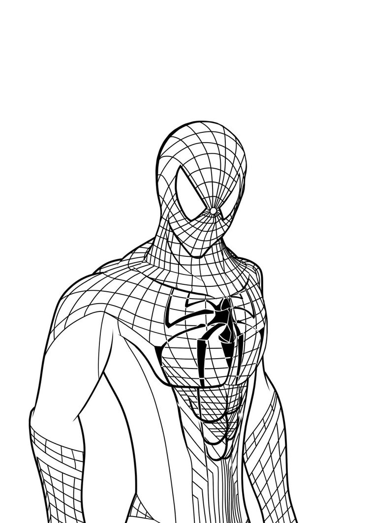 752x1063 Coloring Pages The Amazing Spider Man Amazing Spider Man
