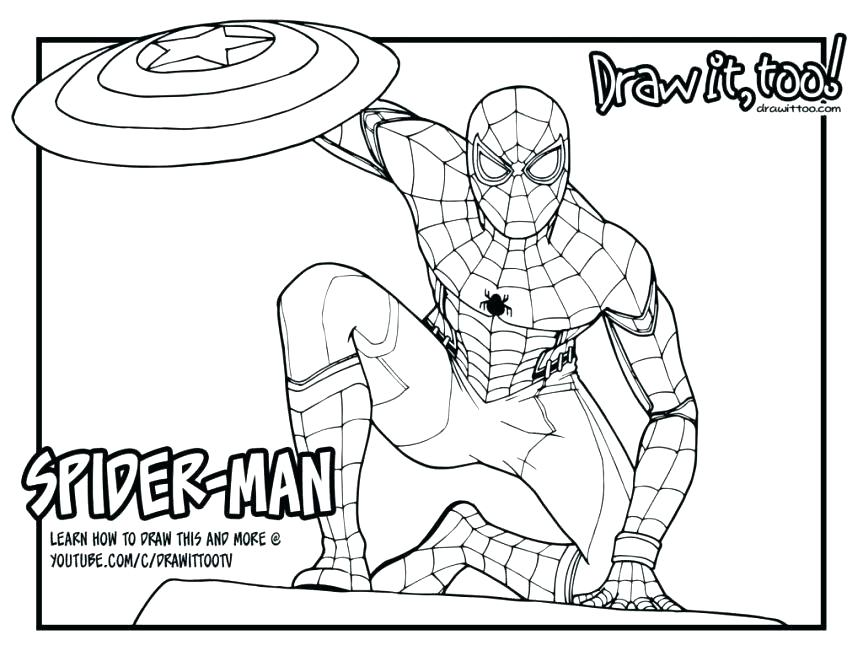 Spider-man homecoming 2 coloring pages - Hellokids.com | 667x863