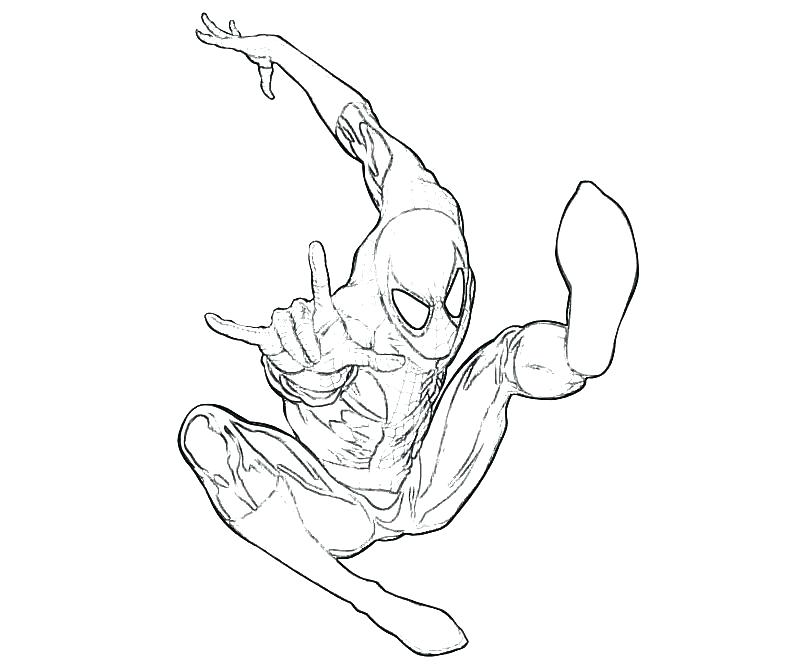 800x667 Spider Man Homecoming Coloring Pages Also Amazing Spider Man