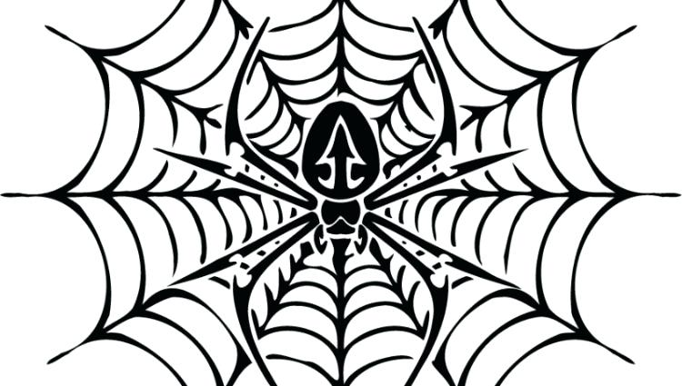 750x425 Halloween Spider Web Coloring Pages Kids Coloring Spider Web