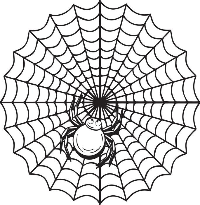 685x700 Halloween Spider Web Coloring Pages Unique Printable Spider Web