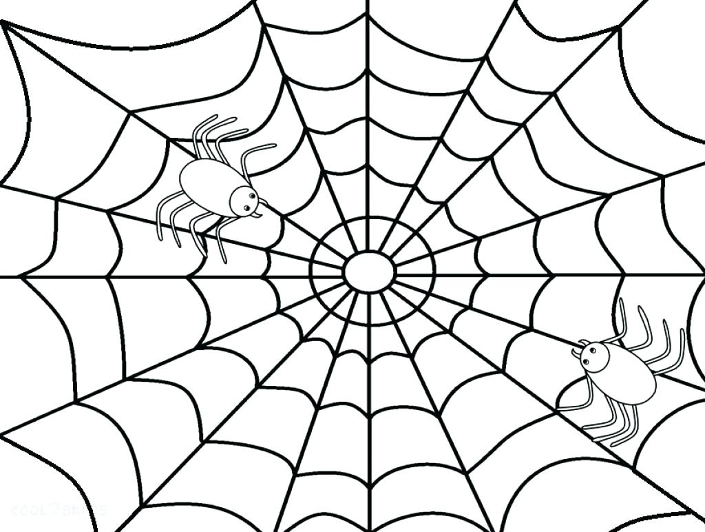 1024x772 Preschool Spider Web Coloring Page Pages Style Inside Wonderful