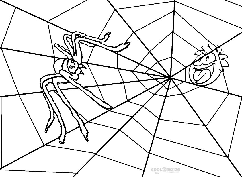 850x621 Printable Spider Web Coloring Pages For Kids