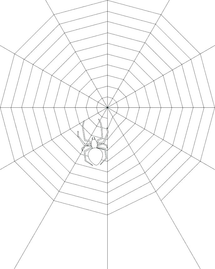 687x859 Spider Web Coloring Page Spider Color Page Spider Web Coloring