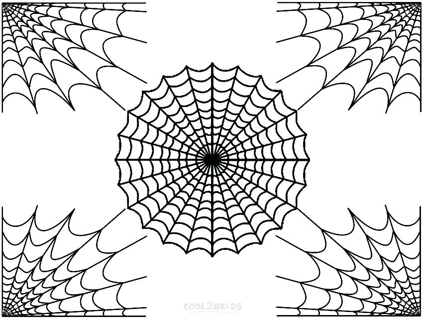 850x641 Spider Web Coloring Page With Spider Web Coloring Pages Printable