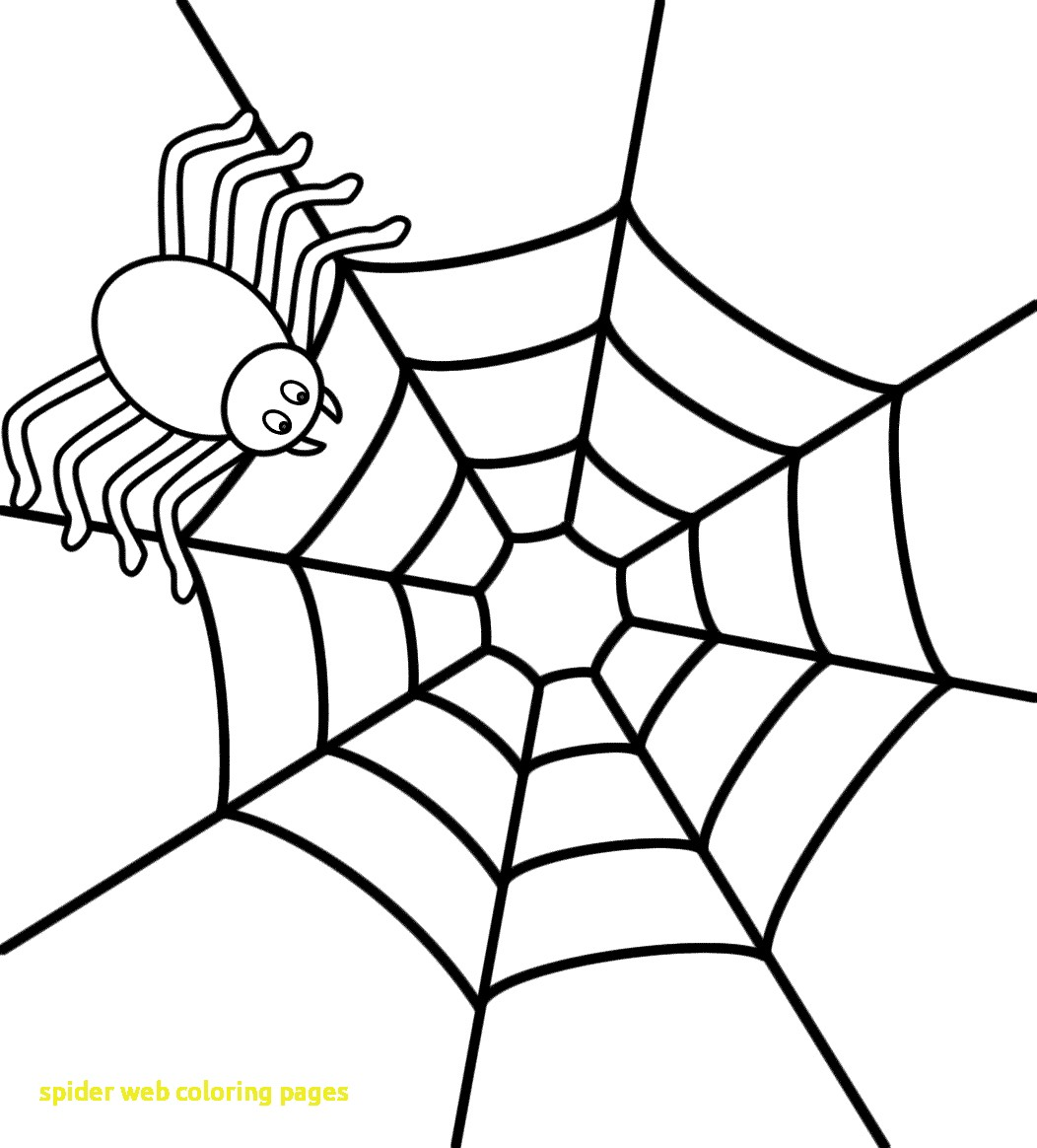 1052x1164 Spider Web Coloring Pages With On A Page Halloween Template