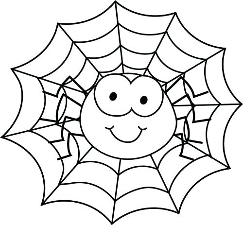 500x463 Spider Coloring Page Spider In Spider Web Coloring Page Miss