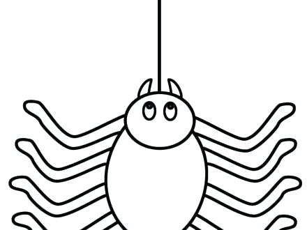 440x330 Spider Web Coloring Page Spider Coloring Page Cute Spider Coloring