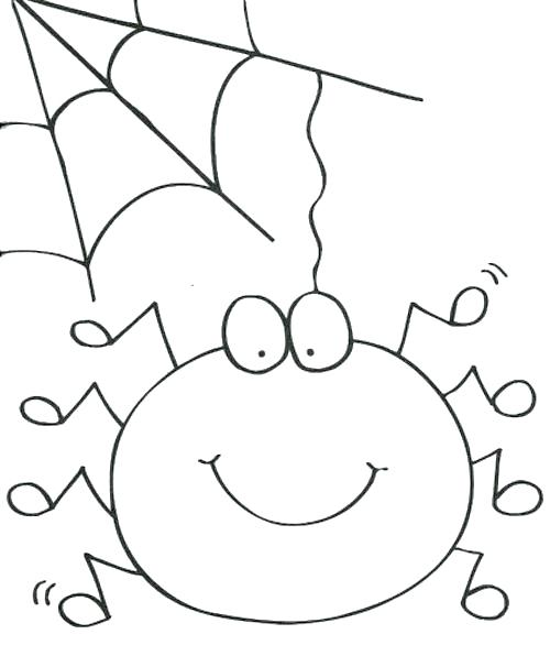 500x606 Spider Web Coloring Page Spider Web Coloring Page Cute Spider Girl
