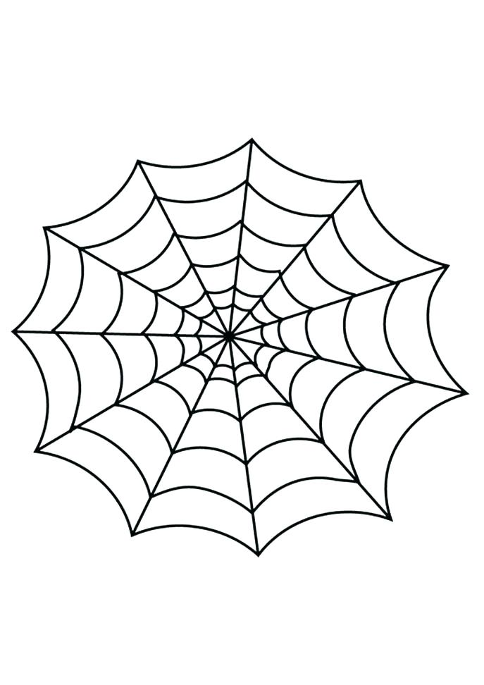 687x972 Spider Web Coloring Page Spider Web Coloring Page Medium Size