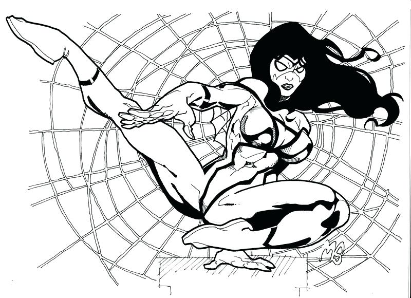 800x580 Spider Girl Coloring Pages Spider Woman Coloring Pages Spider