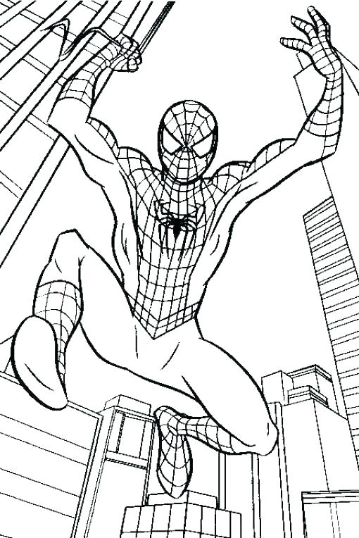 510x764 Spiderman Coloring Pages Coloring Coloring Pages For Kids Online
