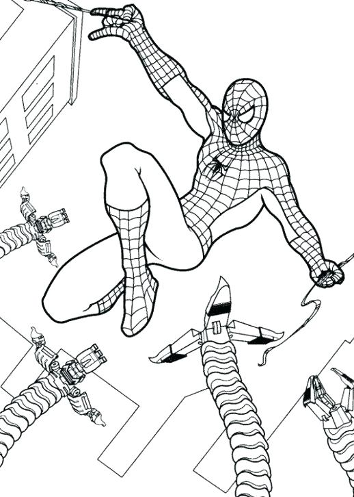 518x726 Spiderman Coloring Pages