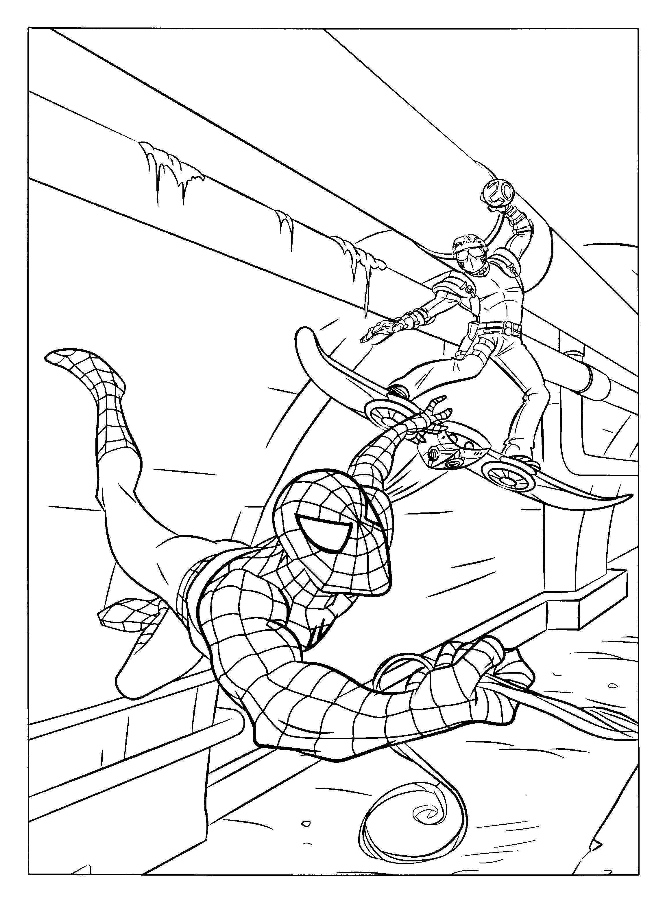 2300x3100 Spiderman Coloring Pages Dessin A Colorier