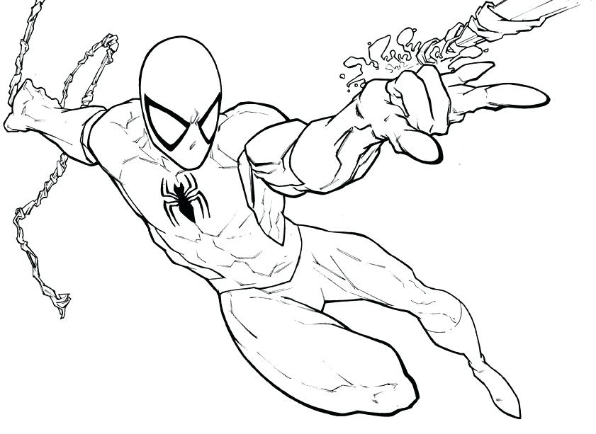 841x613 Coloring Pages Of Spiderman Easy Coloring Spiderman Coloring