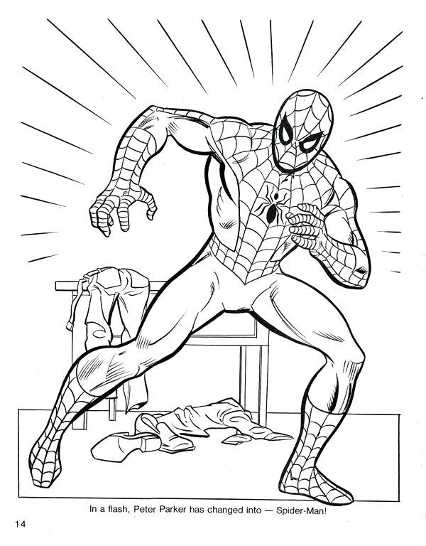 600x768 Spiderman Color Pages Drawn Spider Man Coloring Book Pencil