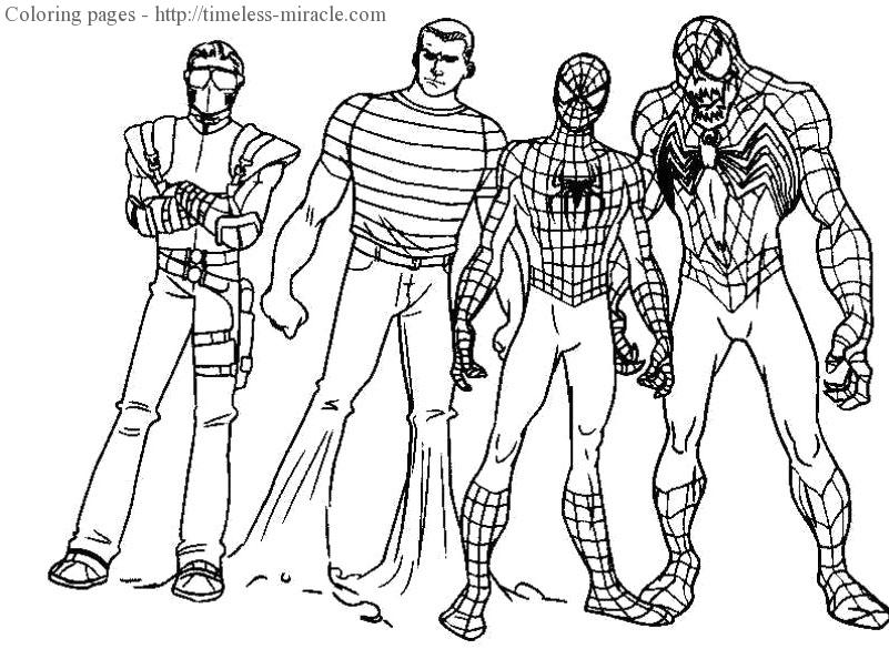 801x585 Coloring Pages Spiderman Coloring Page Activities Marvel Super