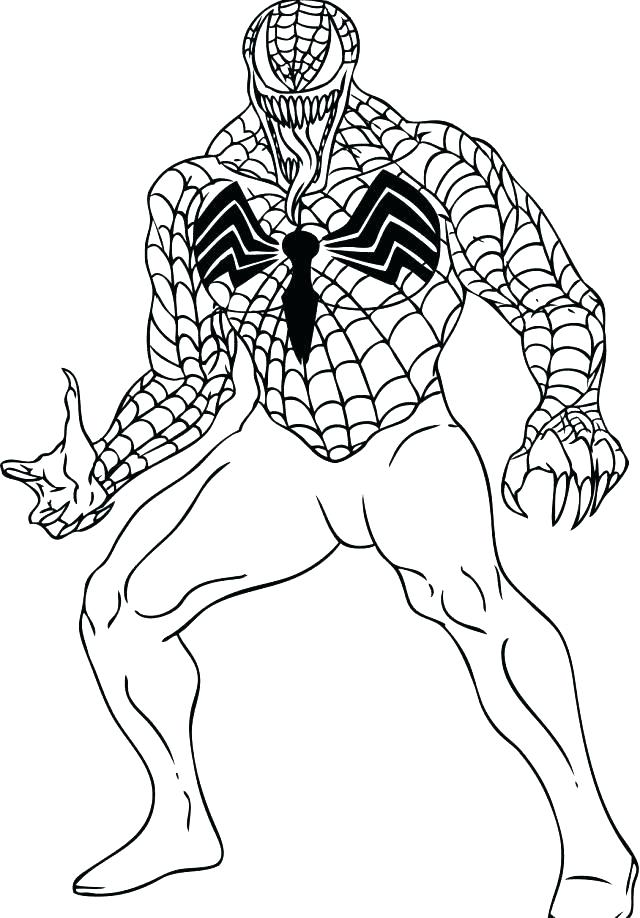 640x918 Free Spiderman Coloring Sheets