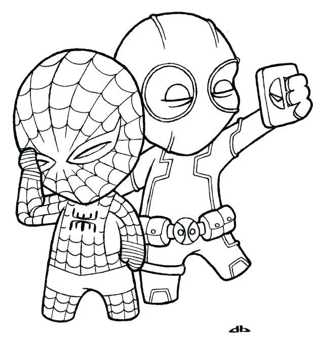 618x678 Spiderman Coloring Pages Murs