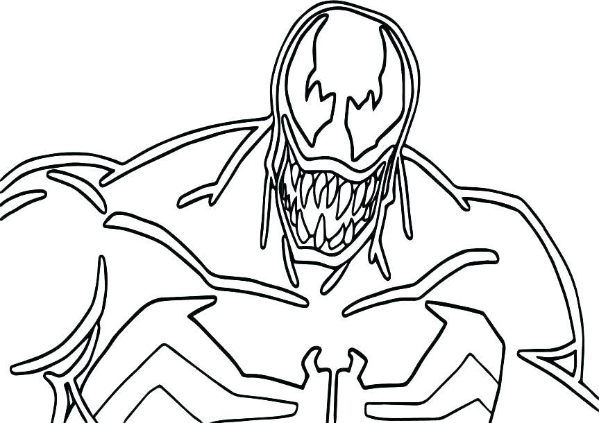 863x610 Spiderman Venom Coloring Pages