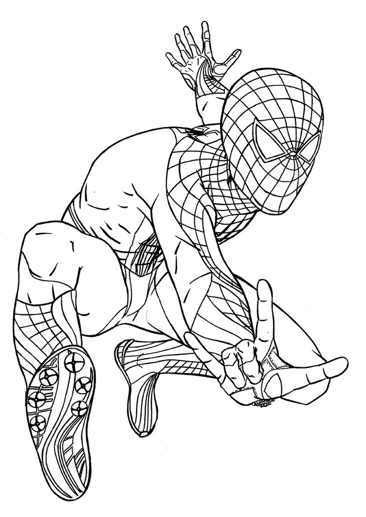 752x1063 Free Printable Spiderman Coloring Pages For Kids