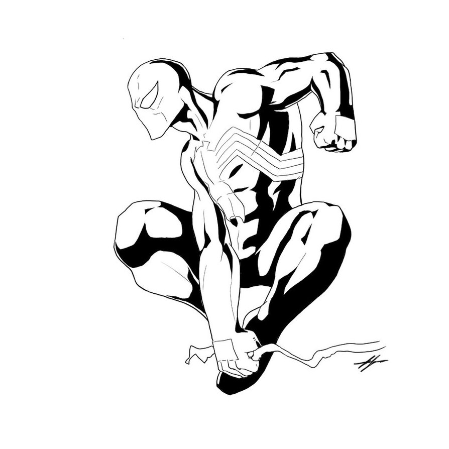 894x894 Liberal Black Suit Spiderman Coloring Pages Drawing At Getdrawings
