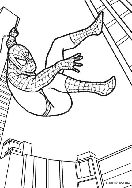 431x612 Printable Spiderman Coloring Pages For Kids
