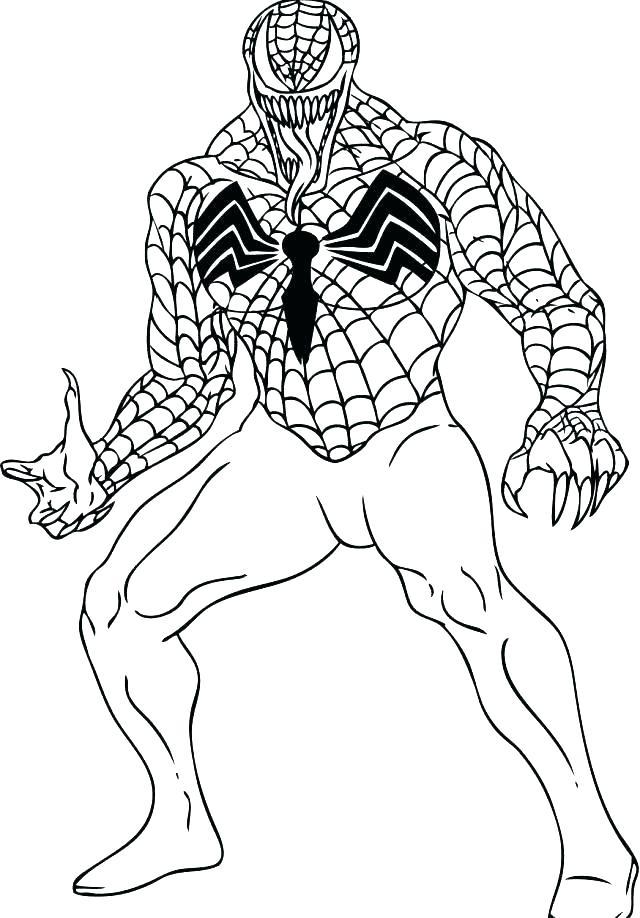 640x918 Spiderman Venom Coloring Pages Spider Man Color Page Color Pages