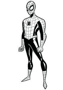 209x300 Black Suit Spiderman Coloring Pagesblack Suit Spiderman Coloring