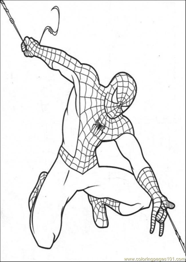 650x912 Spiderman Make His Own String Coloring Page