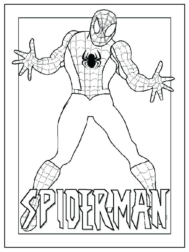 Spiderman Coloring Pages Free at GetDrawings.com   Free for personal ...