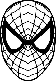 Spiderman Face Coloring Page