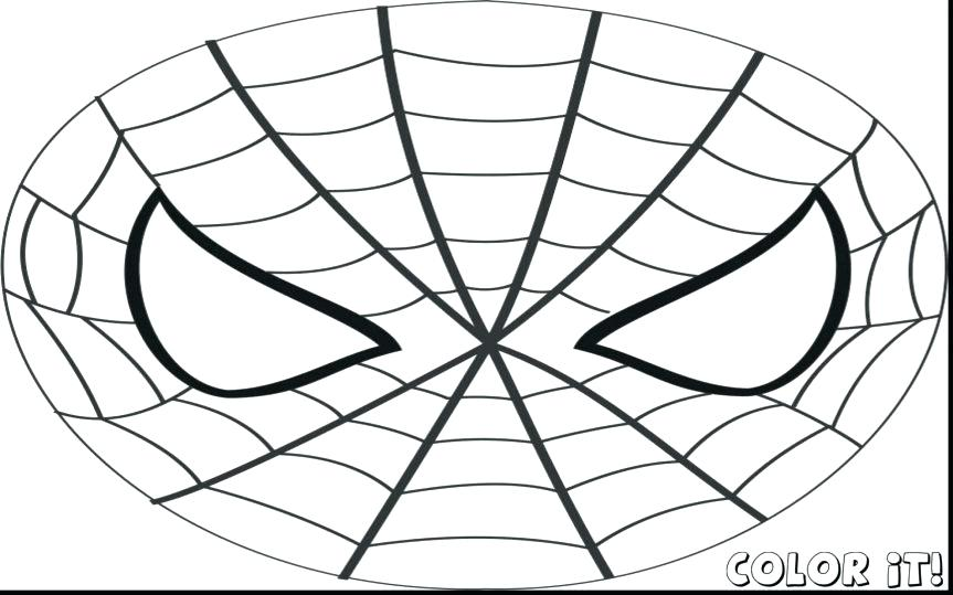 863x539 Mardi Gras Masks Coloring Pages Fabulous Spider Man Mask Template