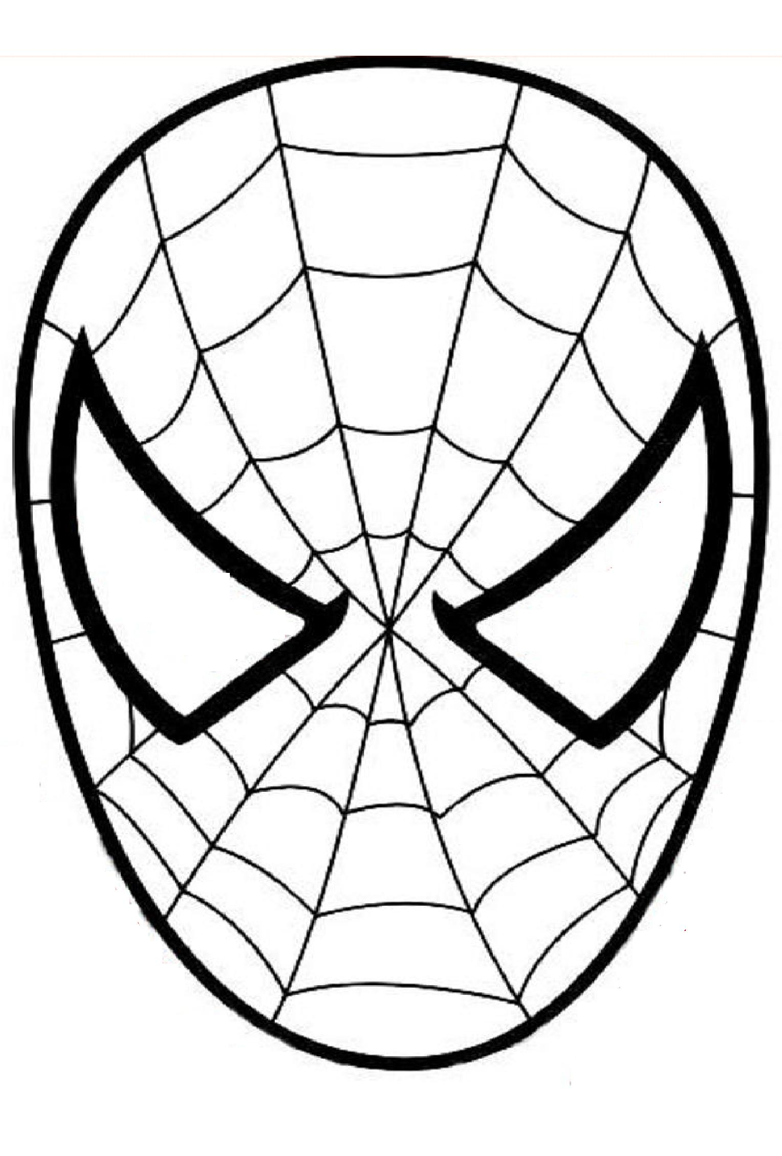 Spiderman Mask Coloring Page at GetDrawings | Free download