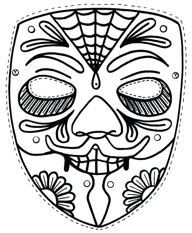 618x747 Astonishing Mask Coloring Page Astonishing Mask Coloring Page Mask