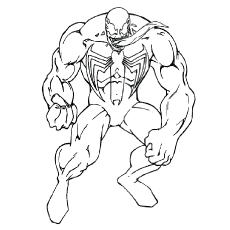 photo relating to Venom Coloring Pages Printable known as Spiderman Venom Coloring Web pages at  No cost for