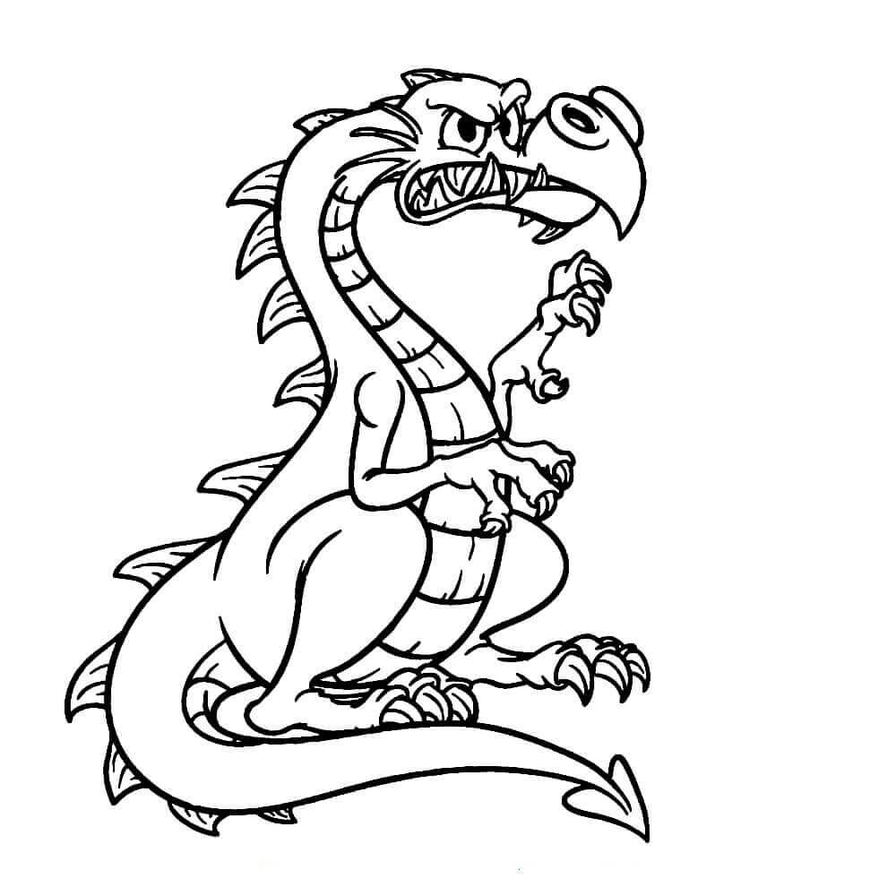 Spike The Dragon Coloring Pages