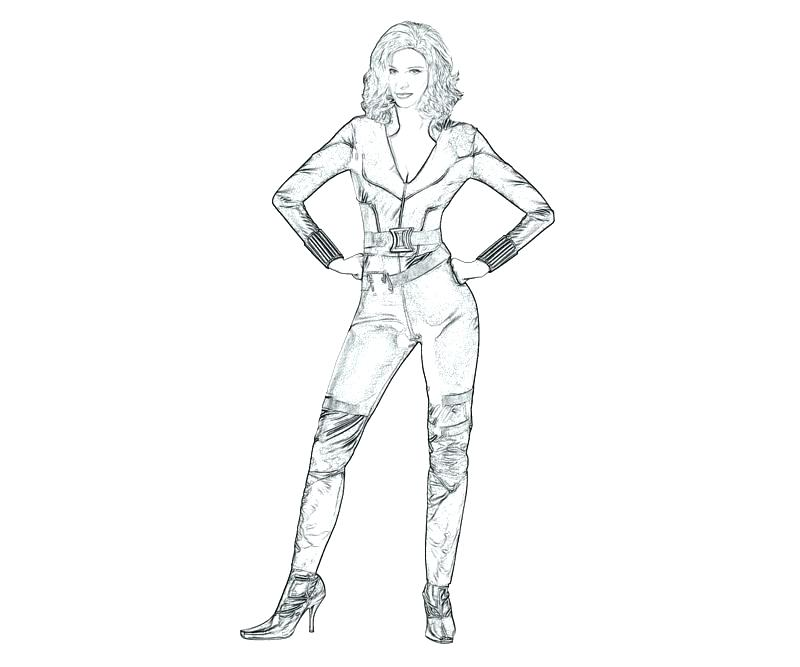 800x667 Black Widow Cartoon Coloring Pages Spider Page Color