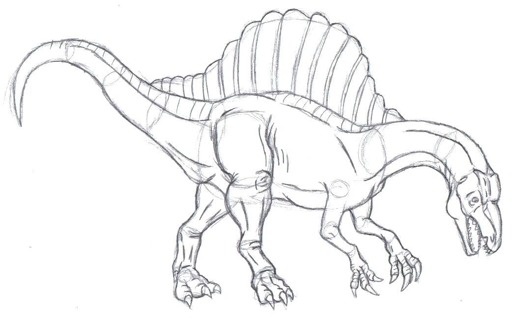 spinosaurus coloring page at getdrawings  free download