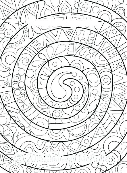 442x600 Abstract Coloring Page Abstract Color Pages Groovy Abstract