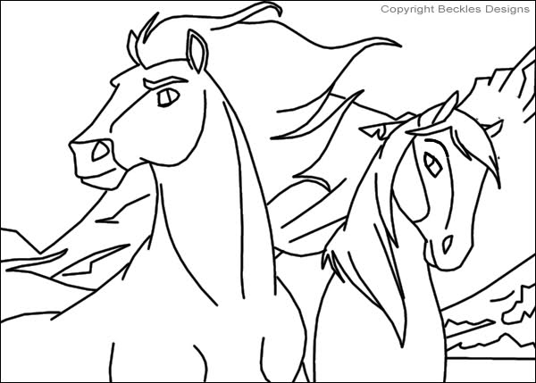 600x429 Amazing Spirit Stallion Of The Cimarron Coloring Pages Diy