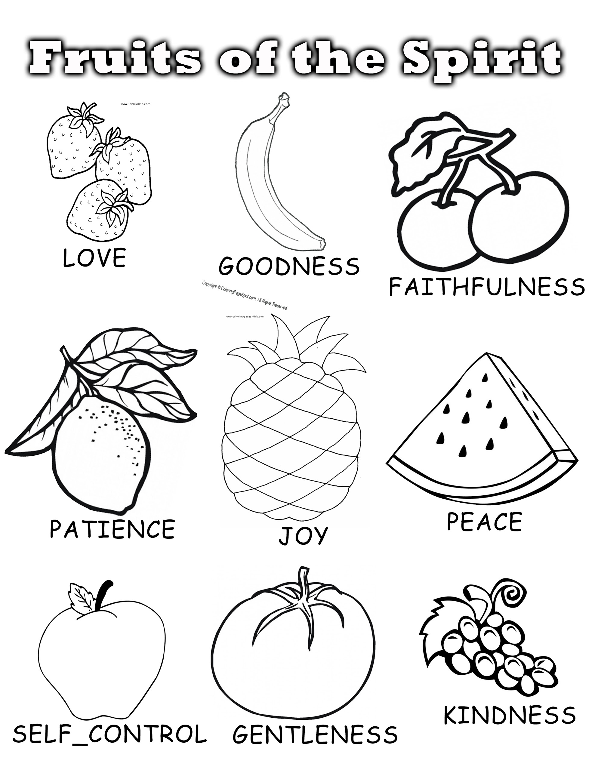 1978x2560 Fruits Of The Spirit Coloring Pages