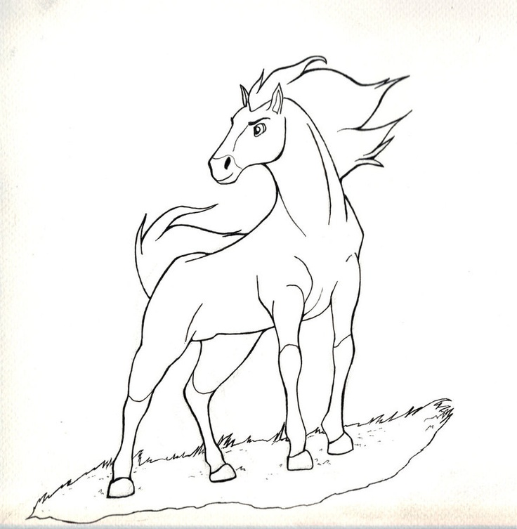 736x753 Best Spirit Coloring Pages Images On Horse Coloring