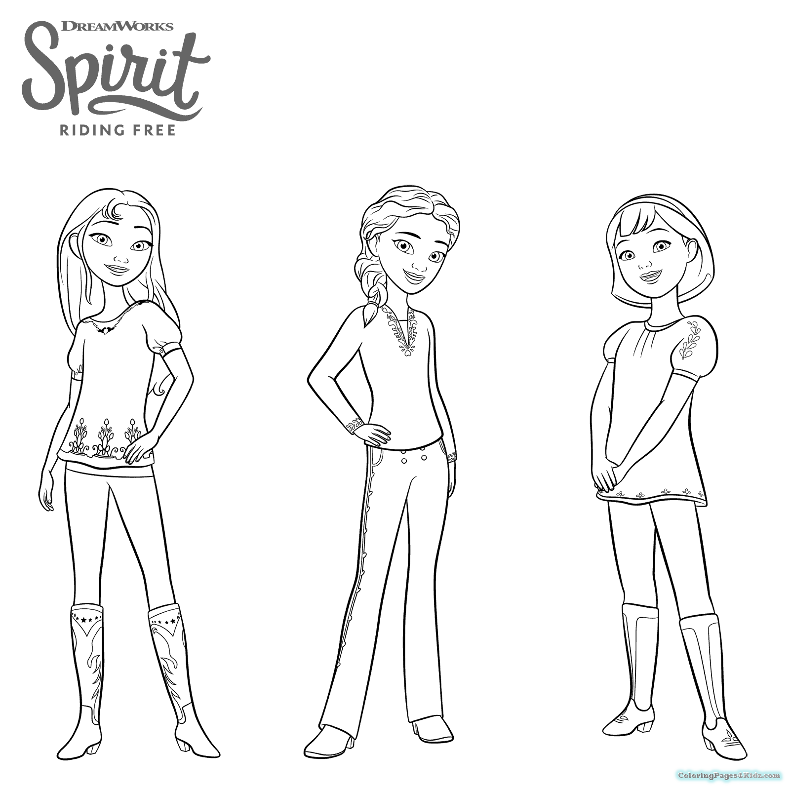 1600x1600 Spirit Riding Free Coloring Pages Coloring Pages For Kids
