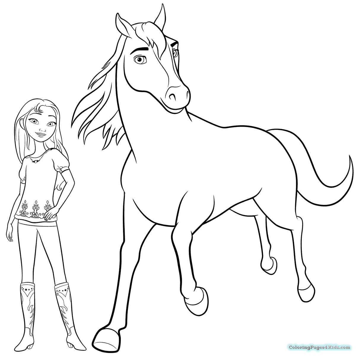 1200x1200 Spirit Riding Free Coloring Pages For Kids Best