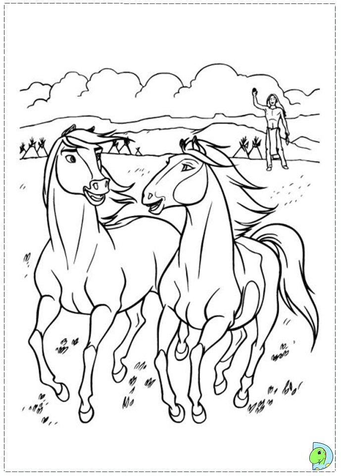 691x960 Spirit The Horse Coloring Pages